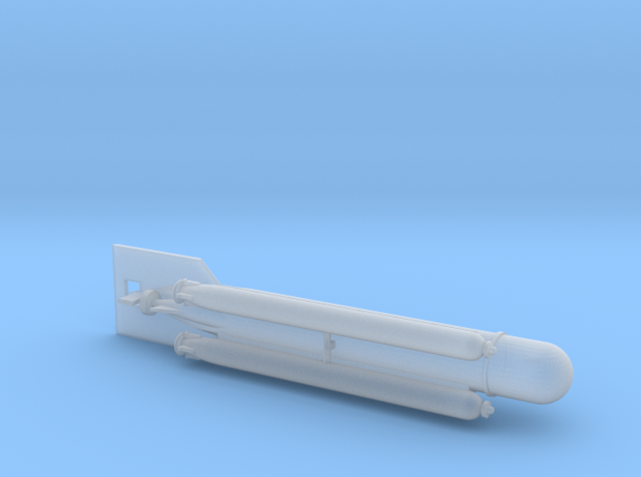 "German Midget Submarine ""Molch"" 1/144 3d printed"
