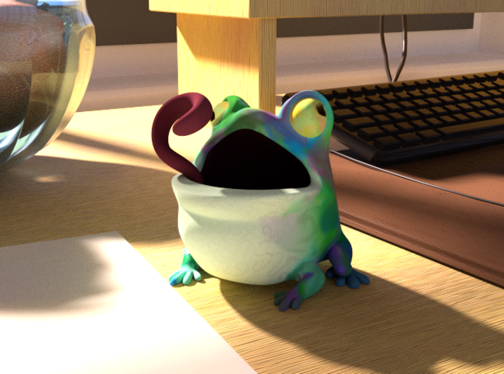 Toadicup 3d printed Render of Full Color Sandstone