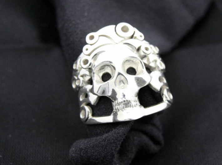 The Handsome Joker - Skull ring 3d printed