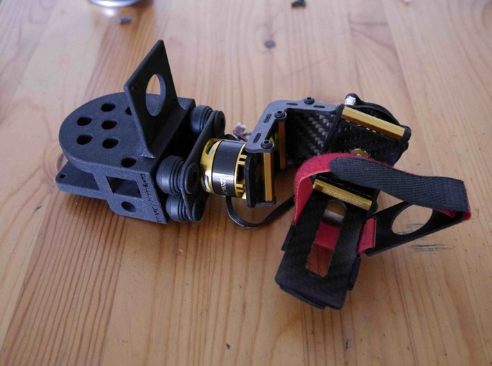 Gimbal TBS Discovery support 3d printed assembled