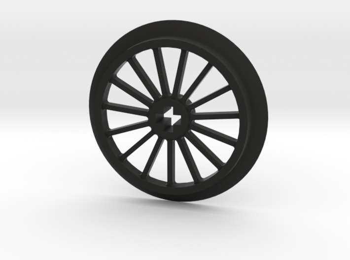 Large Thin Train Wheel 3d printed
