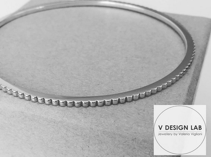 New Ingranaggio Bangle - Slim Version 3d printed Black & White Photo