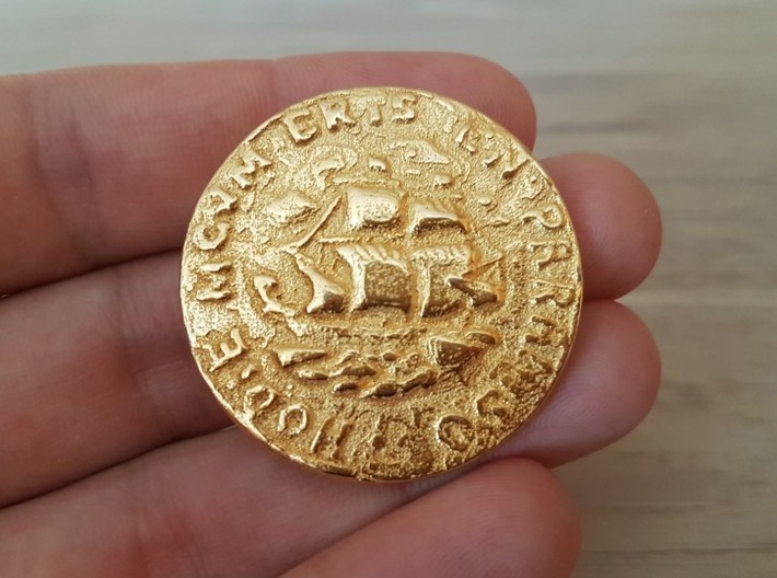 Pirate Coin Uncharted 4 3d printed