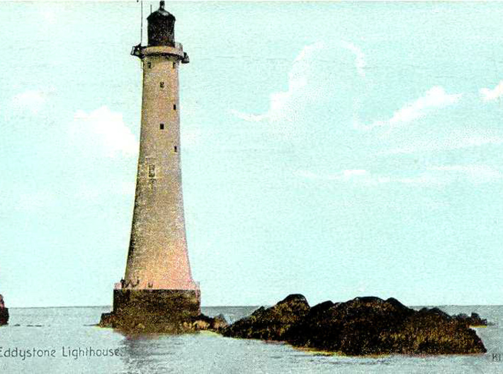 Lighthouse - Eddystone Rocks 1/285th scale 3d printed