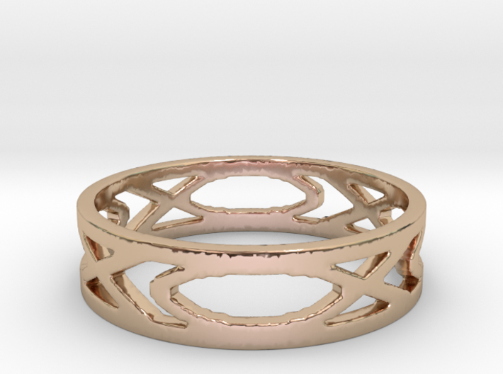Women's Fish Ring 3d printed