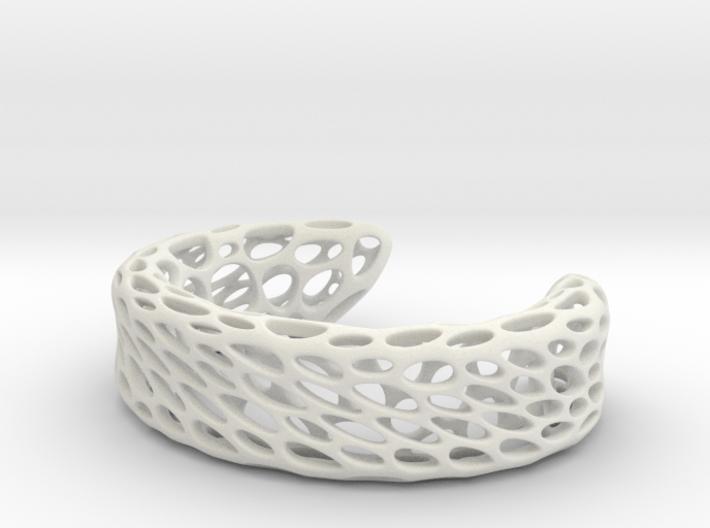 Voronoi Bracelet B 3d printed