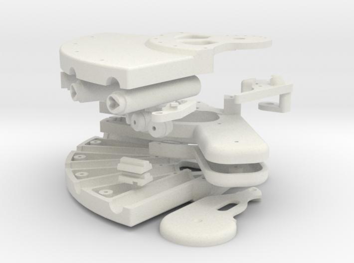 Plastic bouwkit voor parfum pistool. 3d printed