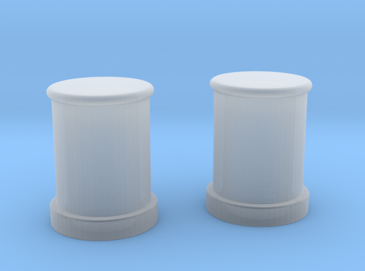1/100 DKM Bollards 3d printed