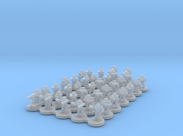 StormTrooper Squad 7mm tall (THICK limbs version) 3d printed