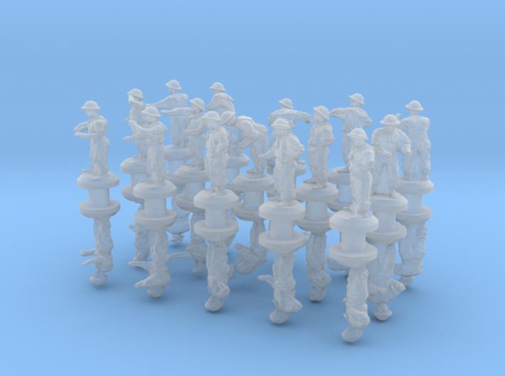 1-350 Generic Royal Navy Sailors Set 2 3d printed