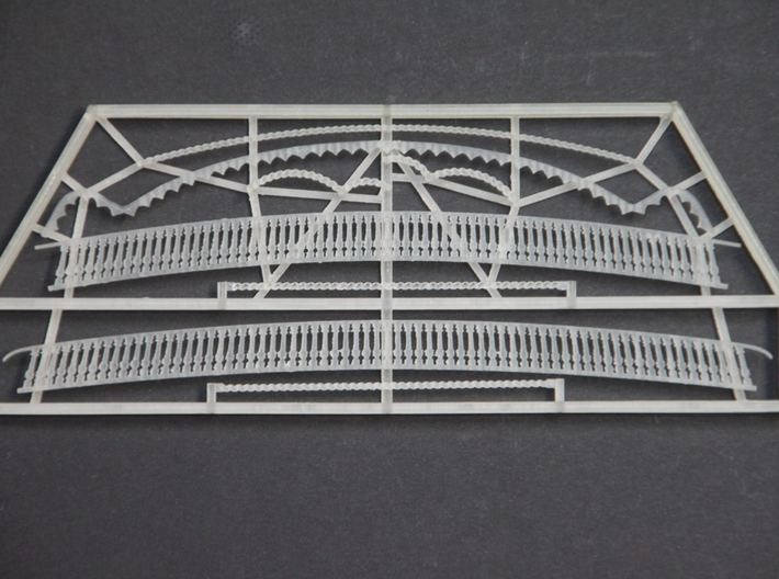 1:100 HMS Victory Stern Gallery Decoration 3d printed Photo of 1:78 version