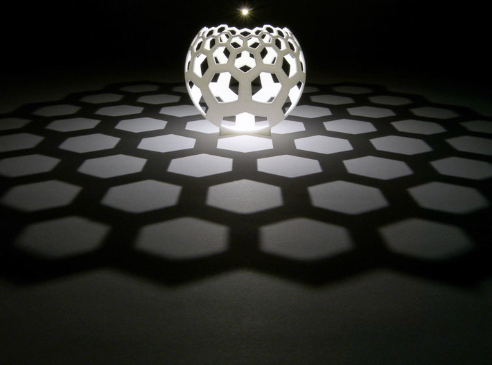 Honeycomb (stereographic projection) 3d printed