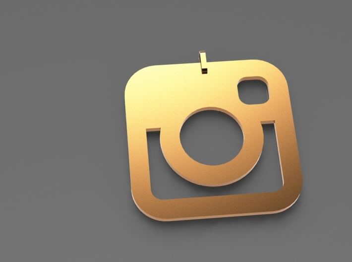 Instagram Pendent 3d printed Gold