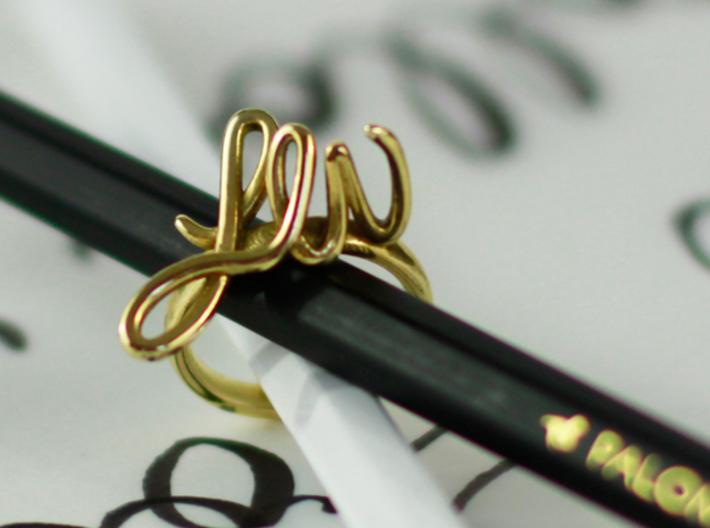 Bespoke Initials Ring 3d printed