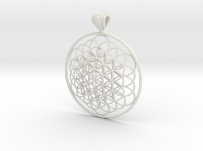 Flower Of Life Pendant 6cm Fancy Big Loopet 3d printed