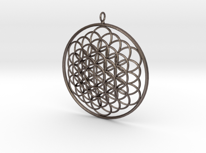 Flower Of Life Pendant - w Loopet - 6cm 3d printed