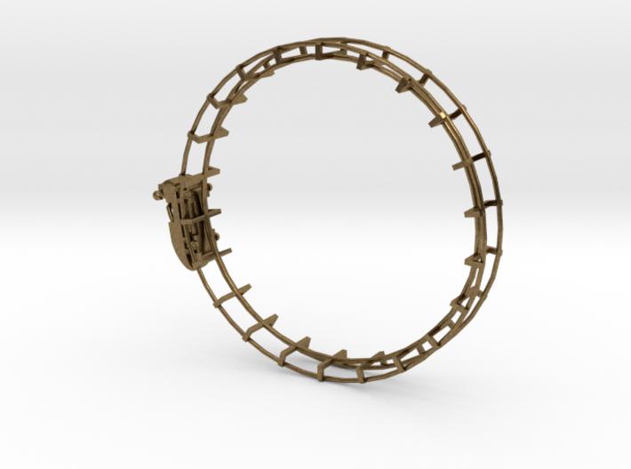 Roller Coaster Circle Pendent 3d printed