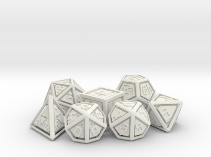 RATTLERS - Floating Polyhedral Dice Set 3d printed