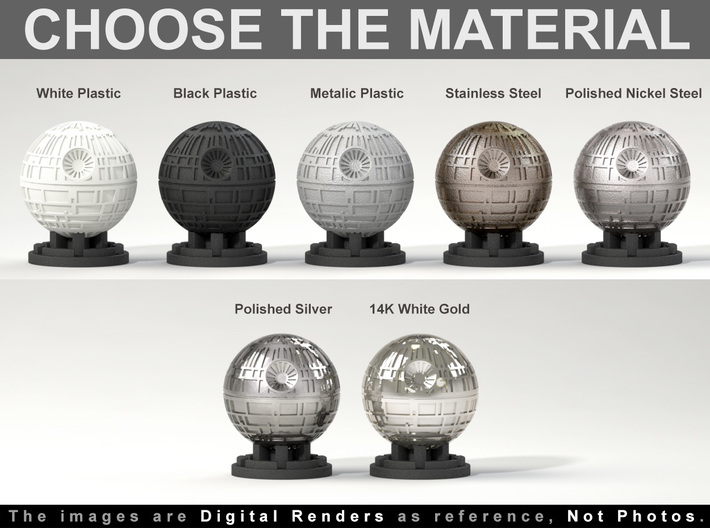 Death Star Ring Box - Proposal/Engagement Ring Box 3d printed Choose the Material. The images are 3D renders as reference, not photos.