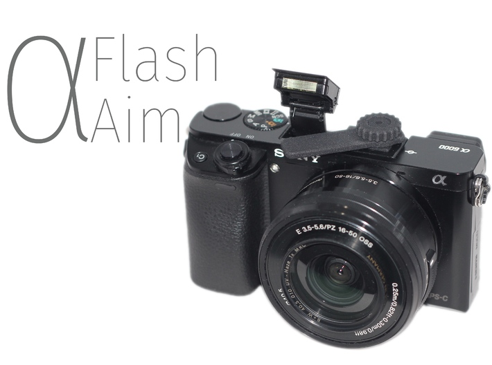 ⍺Aim (Flash Aim for Sony A6000) 3d printed