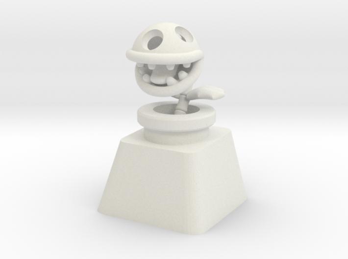 Bone Piranha Plant Cherry MX Keycap 3d printed