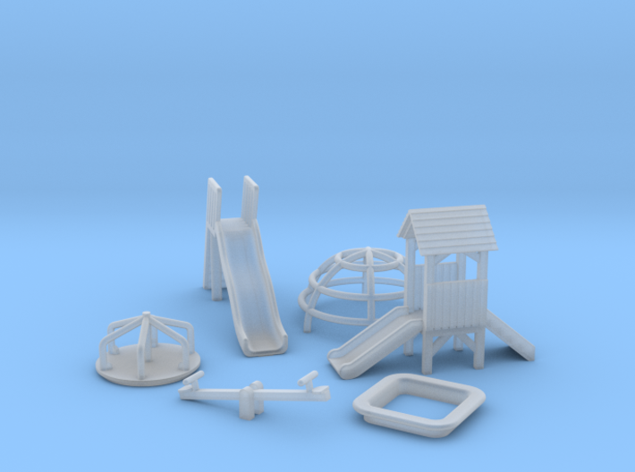 N Scale Playground Equipment 3d printed