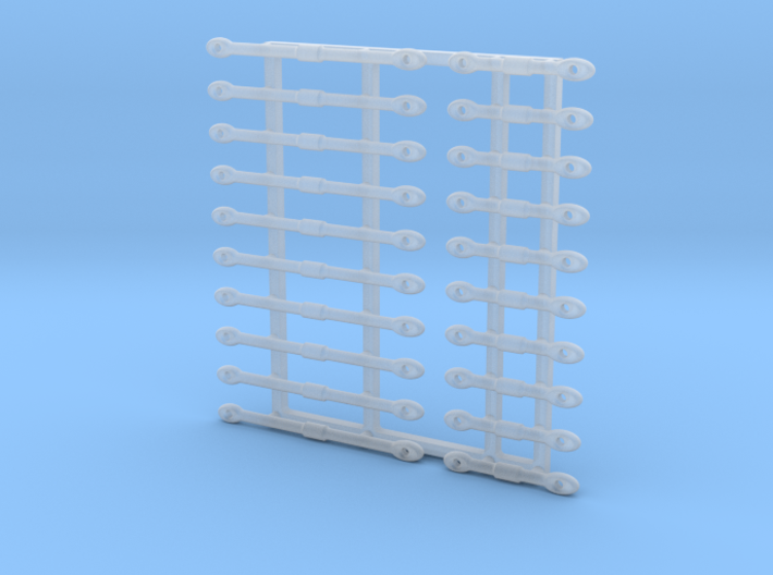 16th Scale Turnbuckles, Long-Short 3d printed