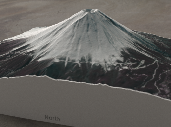 Mt. Fuji, Japan, 1:50000 Explorer 3d printed