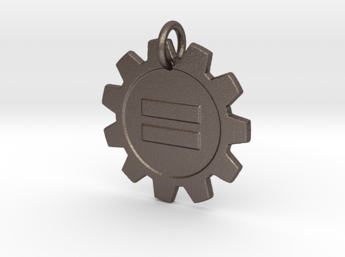 Steampunk Equality pendant 3d printed