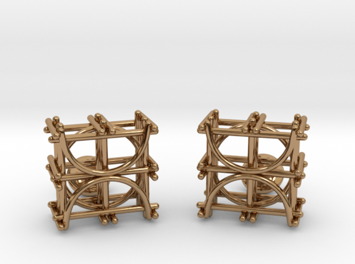 Architecture Cufflinks 3d printed
