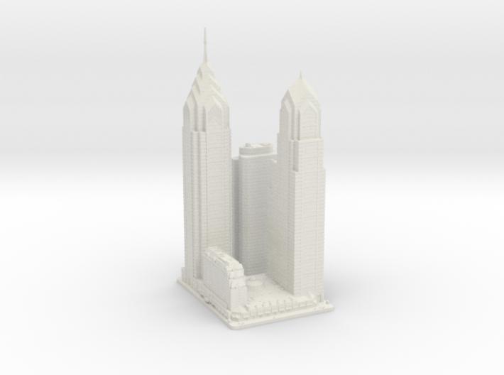 Liberty Place (1:2000) 3d printed