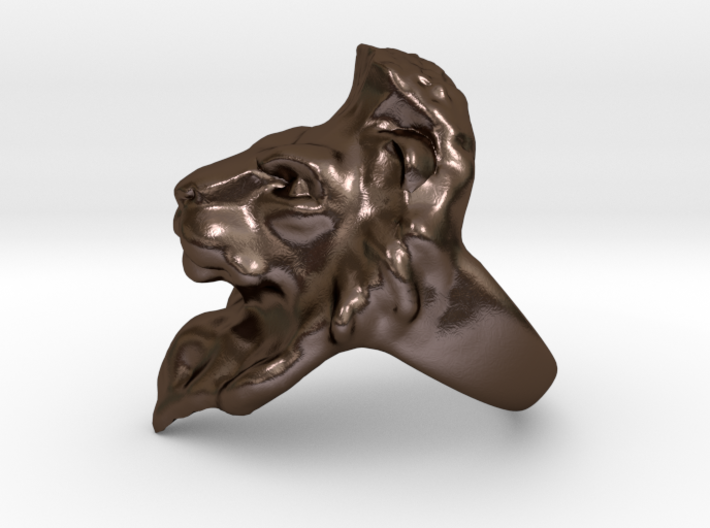 Lion Ring 15.72mm (size 5) 3d printed