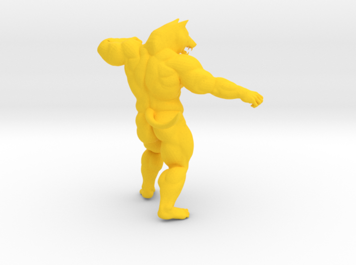 Fighting Wolf 3d printed