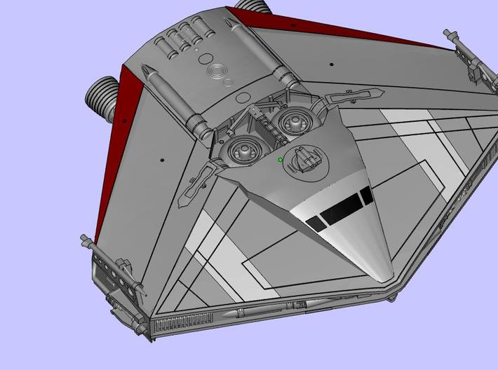 BSG TOS Triangle Ship (Andrew Probert) 3d printed