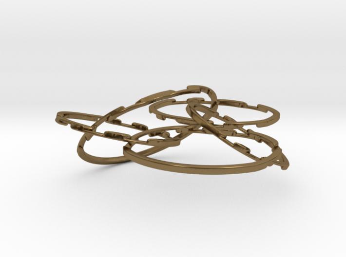 WOW5 Coaster Metal 3d printed