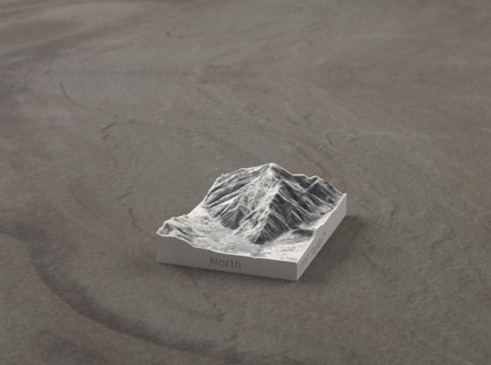 Aspen in Winter, Colorado, USA, 1:100000 3d printed