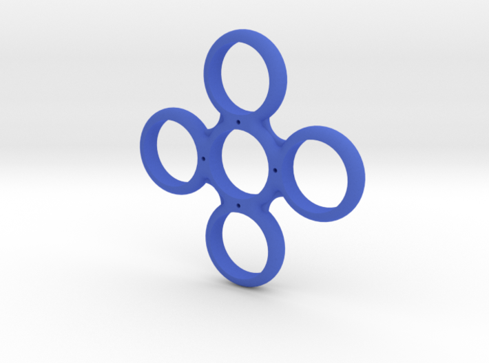 Four Sided Fidget Spinner 3d printed