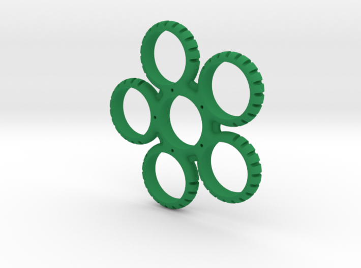 Five Sided Fidget Spinner 3d printed