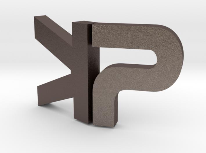 "The Parallelkeller pendant ""PK"" 3d printed"