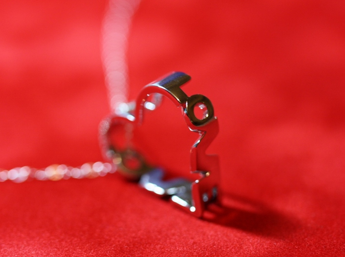 Hidden Love Pendant 3d printed