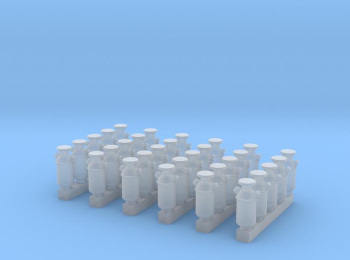 N Scale Milk Cans 30ea 3d printed