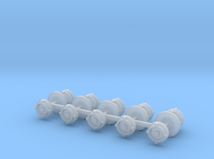 Fire hose Storz coupling 10x scale 1/50 3d printed