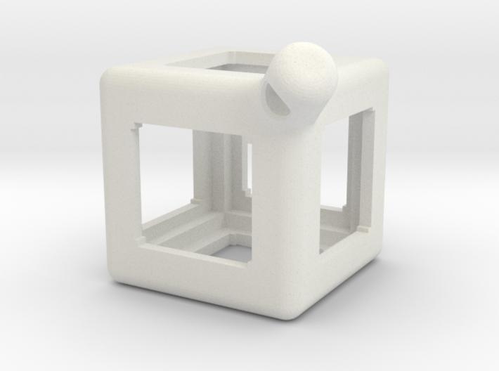 FidgetKeyCube Rev1 3d printed