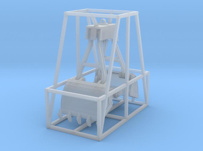 Burro Crane Clambucket HO Scale 3d printed Clamshell Bucket HO scale