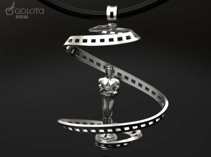 Oscar Award Academy Pendant (broken page) 3d printed Oscar Cinema Pendant v2