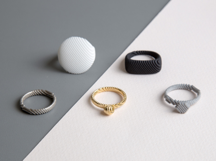 archetype - wedding ring 3d printed entire archetype collection