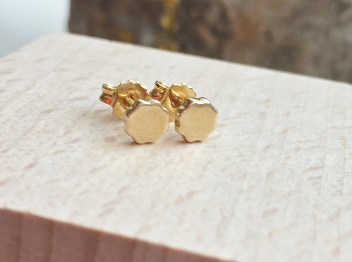 Flower Power - Mini Stud Earrings 3d printed