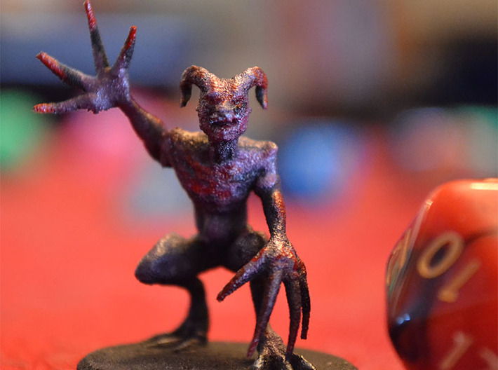 Demon Howler 3d printed Scale to Common D20