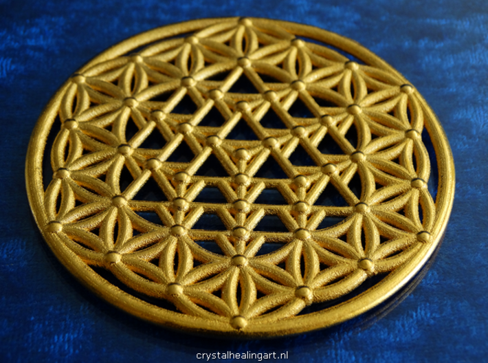 64 Tetrahedron Grid - Flower of life 3d printed