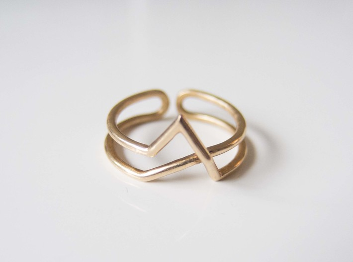 Continuous Geometric Ring  3d printed